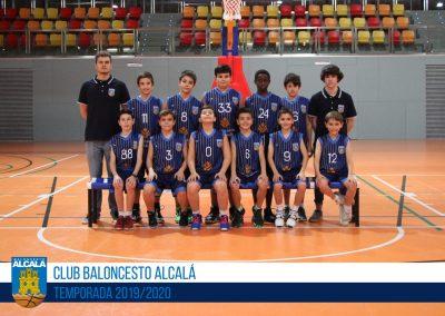 ALEVÍN 08 AZUL MASCULINO BALONCESTO ALCALA 2019-2020