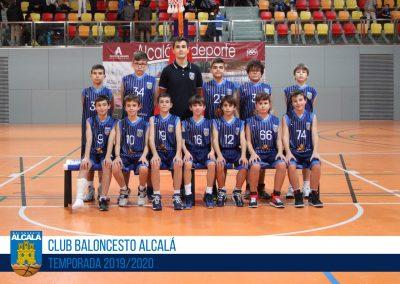 ALEVÍN 08 BLANCO MASCULINO BALONCESTO ALCALA 2019-2020